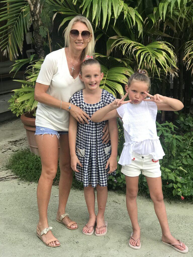 Sand Dollar Dubai's Lucy Gibson Poses With Daughters