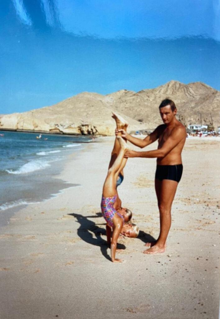 Lucy Gibson Childhood UAE Beach